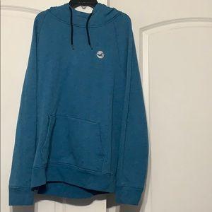 Blue men's hoodie.